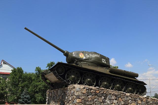 tank na náměstí