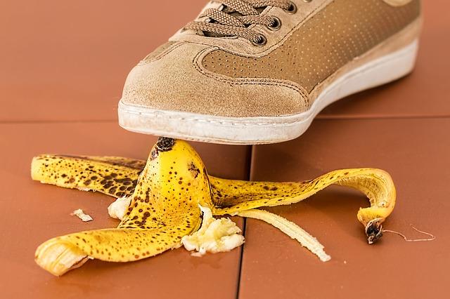 uklouznutí na banánu